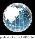 地球,世界,东亚 45098762