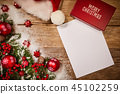 letter to santa. empty craft paper with a pencil 45102259