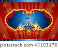 Red circus screen background 45103170