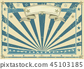 Horizontal retro blue poster 45103185
