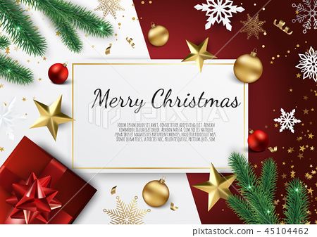 Banner with vector christmas tree branches 45104462