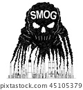 factory, smog, smoke 45105379
