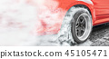 Drag racing car burn tire for the race 45105471
