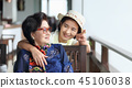 Senior woman with daughter relaxing on vacation  45106038