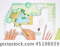 Landscape architect design backyard plan for villa 45106039