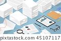 Isometric Paper Work illustration 45107117