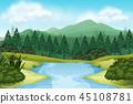 lake, nature, view 45108781