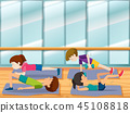 gym exercise vector 45108818