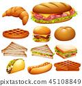 set, various, food 45108849