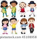 Group of internation children 45108958