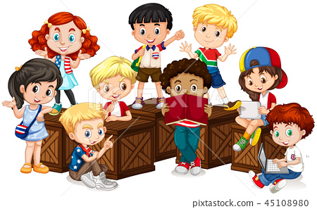 Group of international children 45108980