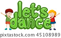 Let's dance symbol template 45108989