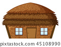 A house on white background 45108990