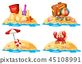 Set of little sand islands 45108991