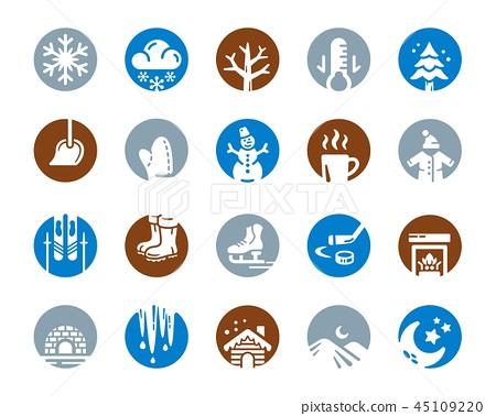 winter icon 45109220