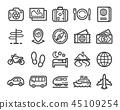 travel line icon 45109254