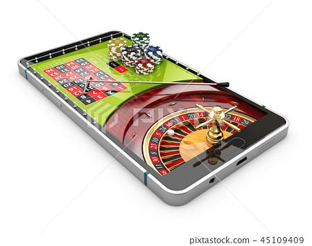 3d Illustration Of Online Internet Casino App Stock Illustration 45109409 Pixta