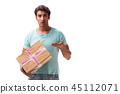 post cardboard man 45112071