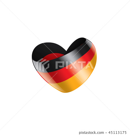 Germany flag, vector illustration on a white background 45113175