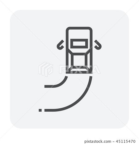 car test icon 45115470