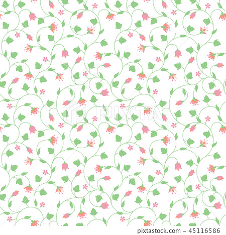 Seamless floral pattern with tiny pink flowers 45116586