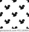 Squirrel.Animals single icon in black style vector symbol stock illustration web. 45116900