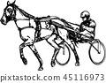 矢量 矢量图 赛马骑师 45116973