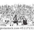 Illustration of sport stadium crowd cheering 45117131