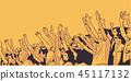 Illustration of sport stadium crowd cheering 45117132