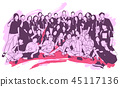 Illustration of group of people posing for photo 45117136