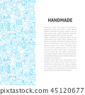 Handmade Line Pattern Concept 45120677