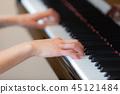 피아노 연주 여자 45121484