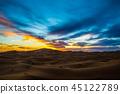 모로코 사하라 사막 석양 45122789