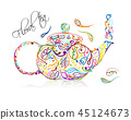 teapot drink tea 45124673