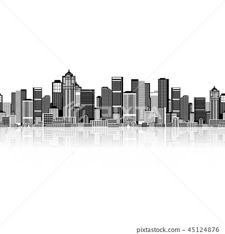Cityscape seamless background for your design 45124876