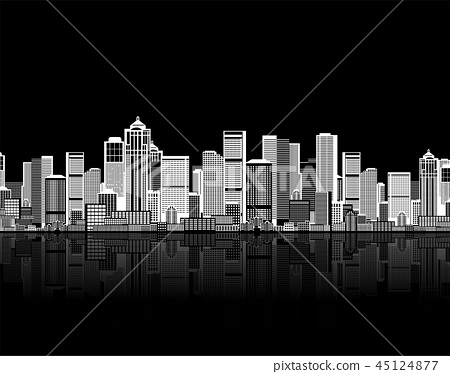 Cityscape seamless background for your design 45124877