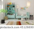 Children room scandinavian style 3D rendering 45126690
