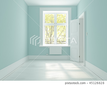 Interior empty room 3D rendering 45126828