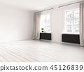 Interior empty room 3D rendering 45126839