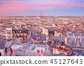 Sunrise in Paris, France 45127643