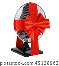 Gift concept, table fan with red ribbon and bow 45128962