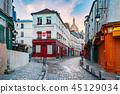 Montmartre in Paris, France 45129034