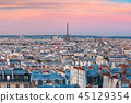 Sunrise in Paris, France 45129354