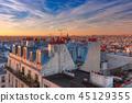 Sunrise in Paris, France 45129355