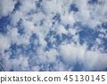 sky, blue sky, white cloud 45130145