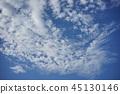 sky, blue sky, white cloud 45130146