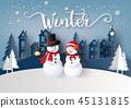 冬天 冬 下雪的 45131815