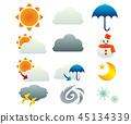 날씨 아이콘 기상 45134339