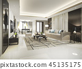 modern dining room and living room with decor 45135175
