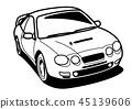 懷鄉國內跑車著色樣式汽車例證 45139606
